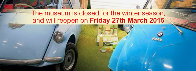 The Bubblecar Museum is open for the 2014 season, Friday, Saturday, Sunday 10am to 5pm