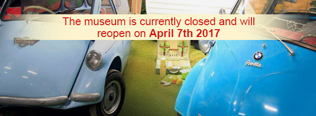The Bubblecar Museum is now closed for the 2016 season and will reopen on April 7th, 2017.